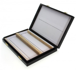 Black Hinged Slide Box to hold 100 Slides