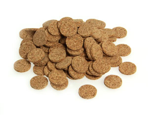 Cork Disks - 20mm Diameter x 3mm thick