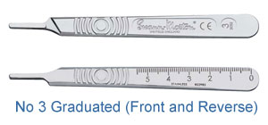 Stainless Steel - Scalpel Handle No 3